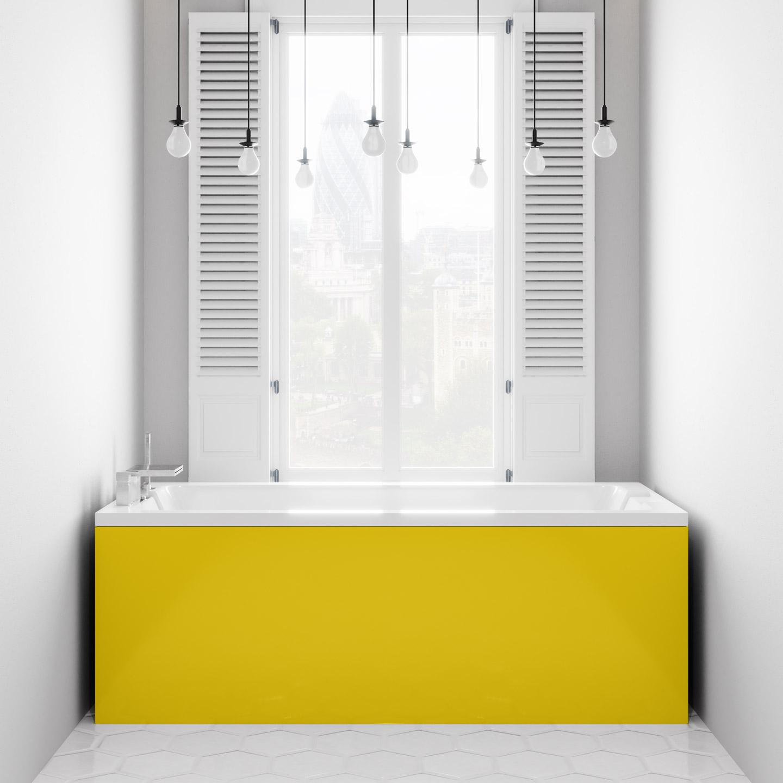 Bright Yellow Bath Panel - Genie Splashbacks