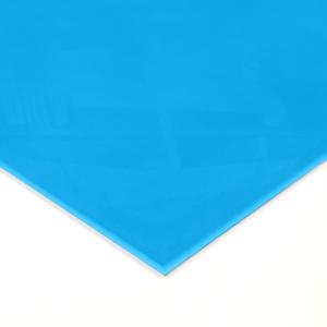 Blue Acrylic coloured Splashback Sample